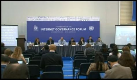 IGF 2012 – WS 169 Internet policy infrastructure for sustainable Internet development