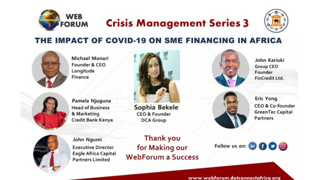 DCA Group Hosts 'The Impact of COVID-19 on SME Financing in Africa' WebForum